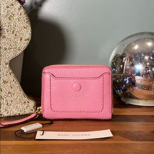 Marc Jacobs Pink Pebble Leather Accordion Wallet